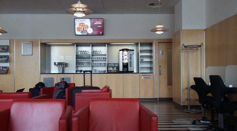 Kaffebar der DB Lounge in Leipzig